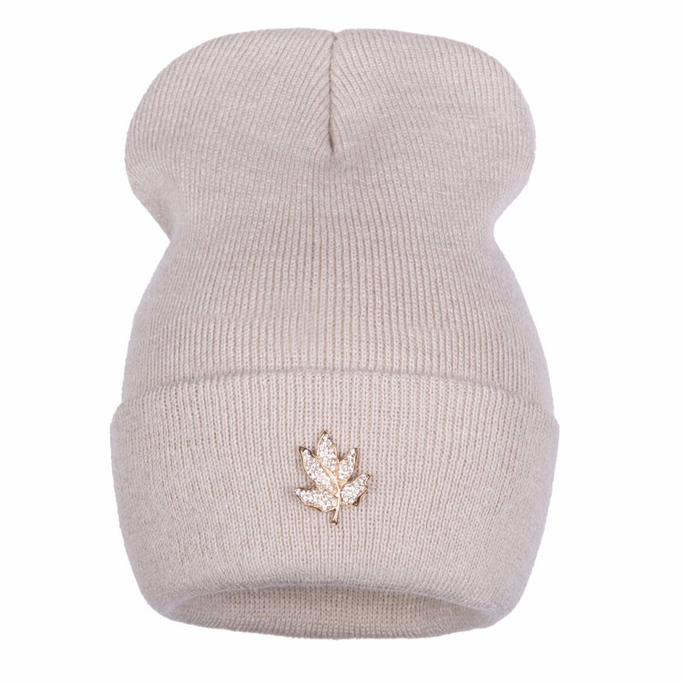 Ralferty Casual Crystal Leaf Beanie Winter Hats For Women Skullies Caps Female Chapeu Toca bonne gorras bonnet Cap Men Snowboard 1