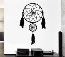 Bedroom Home Talisman Ornament Wall Sticker Dreamcatcher Art Design Vinyl Wall Mural Native American Wall Sticker Y-802