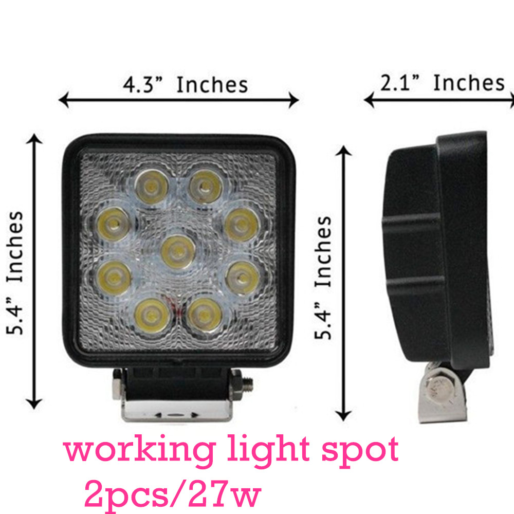 free shipping 2pcs/set  spot beam truck trailer  SUV epistar 27w led work light  12v<br><br>Aliexpress