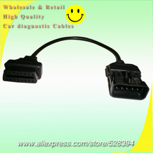 Wholesale 10pcs For Opel Cable Adapter Connector 10 Pin OBD to OBD2 Female 16 Pin OP-COM TECH2 TECH Scanner
