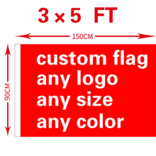 free shipping xvggdg Custom Flag 3x5FT 100D Polyester All Logo Any Colors Banner Fans Sport Custom Flags(China)