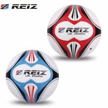 REIZ 20CM Official Size 4 Soccer Ball Premium Leather Football Children Training Matching Color Pattern Ball With Net Needle(China)