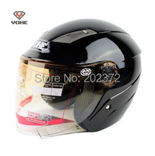 yh837 summer bright Helmets , Motorbike half face bright black electric bicycle headpiece safety helmet scoote dirt bike