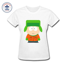 2017 Hot High Quality Cotton girl's South park cartman funny t shirt women(China)