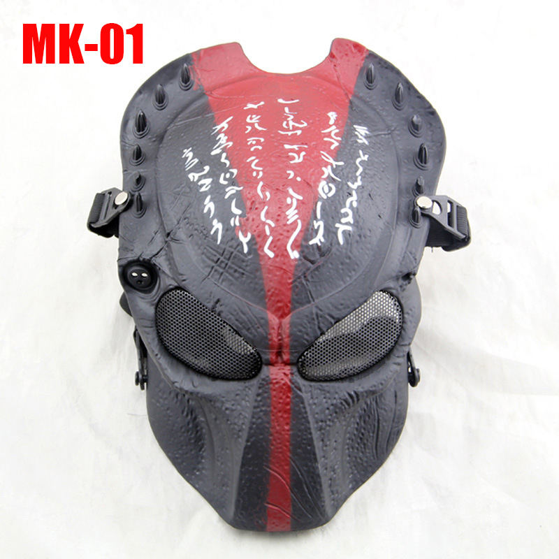 Outdoor CS Field Operation Skull Predator Airsoft Mask Shocker With Metal Visor Full Face Protection Halloween ,Dance Masks<br><br>Aliexpress