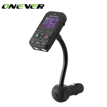 Onever Car MP3 Audio Player Bluetooth FM Transmitter Wireless FM Modulator Car Kit With LCD Display Car Charger For Redmi(China)