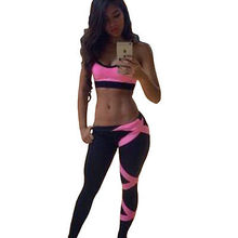 Women Gym Outfit Set  Sports Crop Top Leggings Fitness Workout Sport Wear