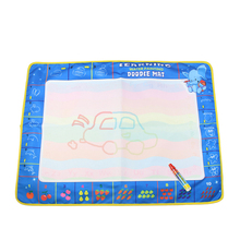 Cool Play 80X60cm Baby Educational Lovely Water Drawing Mat Colorful Painting Board Doodle Mat With Magic Pen Toys For Kid