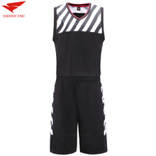 2017 New High Quality Basketball Uniforms Men Comfortable Custom Basketball Jerseys Adult DIY basketball set Training Kits Youth(China)