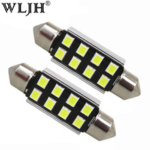 WLJH 10x Car Light 31mm 36mm 39mm 41mm CANbus C5W Led Light Bulb 2835 SMD For Audi Volkswagen Mercedes-Benz BMW E36 E46 E90 E60