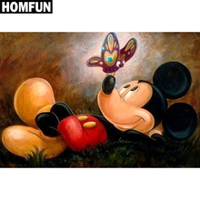 "HOMFUN Full Square/Round Drill 5D DIY Diamond Painting ""mickey mouse"" 3D Embroidery Cross Stitch Mosaic Rhinestone Home Decor(China)"