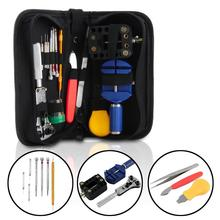 144Pcs Watch Repair Tool Kits Clock Case Spudger Pry Opener Screwdriver Set Holder Opener Watch Link Pin Remover Spring Bar Tool
