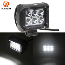POSSBAY Car Motorcycle Truck 8/12/18/20/30/60W Offroad Fog Light Lamp White Driving Work Light Floodlight Spotlight Car Styling(China)