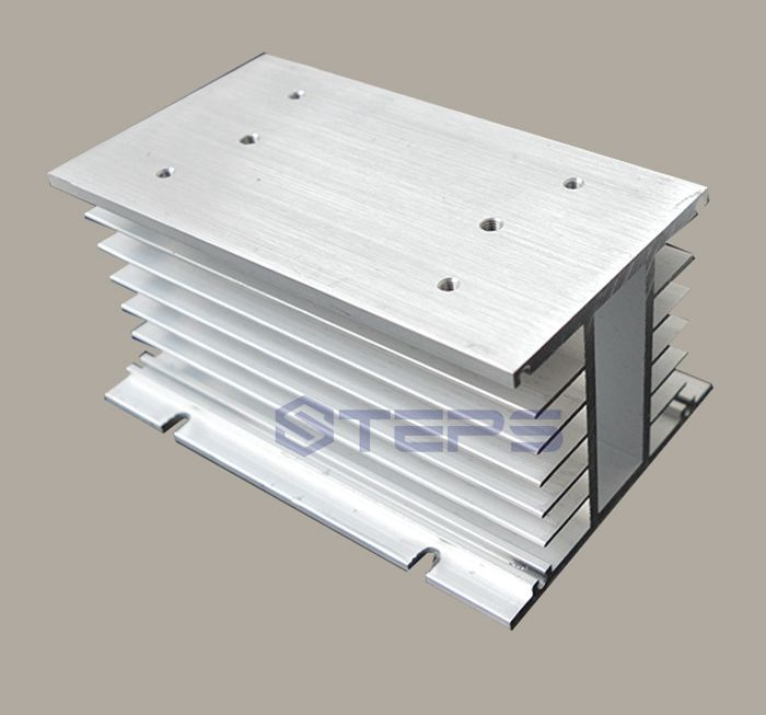 Three-phase solid state relay heat sink Aluminum radiator SR-H lengthen type 150*100*80<br>