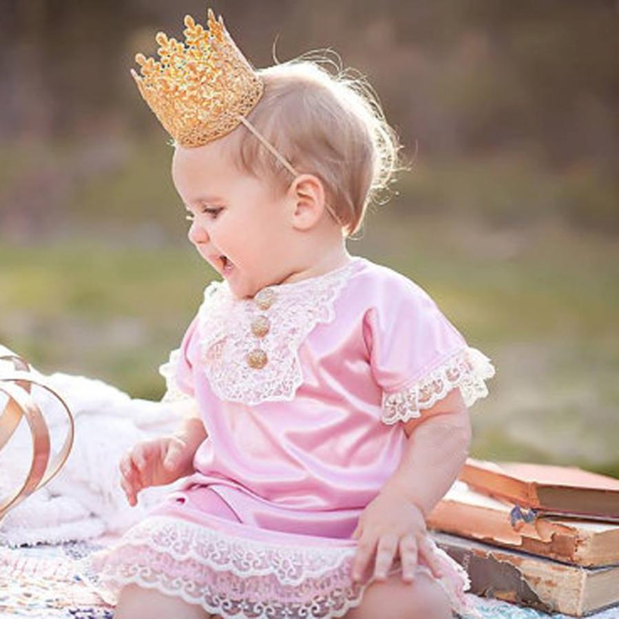 Infant Crown Headband Baby birthday party Crown Headwear Soft material Baby Accessories Free shipping Krystal(China)