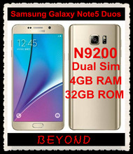 "Samsung Galaxy Note 5 Duos N9200 Dual Sim Original Unlocked 4G LTE GSM Android Mobile Phone Octa Core 5.7"" 16MP RAM 4GB ROM 32GB(China)"