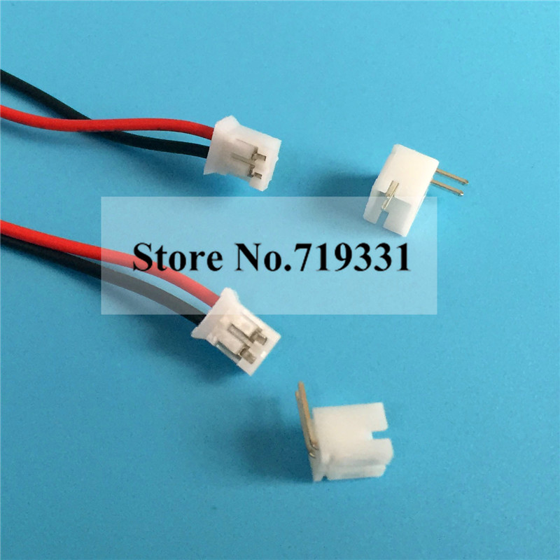 JST-PH 2.0mm 2-Pin Pitch Male Right Angle Connector Header on BLUE Color x 50