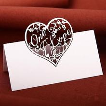 50pcs Name Card Place Card  Wedding Party Table Seating Numbers Card Love Party Decoration Wedding Reception Laser Cut