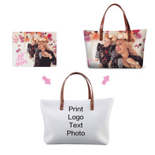 Dispalang Customized Design Womens Handbags Personalized Big Tote Bag Ladies Shoulder Bags Customized  Your Own Unique Handbag