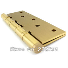 Free Shipping, brass Hinges for timber door / Metal Door, 3mm thickness, Low Noise, 5inch * 3.5inch* 3mm