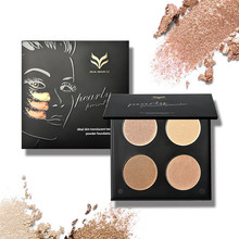 HUAMIANLI 3 Color Blush Women Make up Pallete Cosmetic Contour Shading Pressed Powder Kit Palette Makeup Foundation(China)