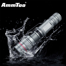 Portable Mini Penlight CREE Q5 LED Flashlight Gray Torch Pocket Led Light 3 Switch Modes Outdoor Camping Lights Use AA / 14500(China)