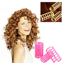12pcs/set Medium Size Rollers Professional Hair Styling Device Hair Braider Curled Hair Tools 303152(China)