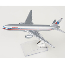 Brand New 1/400 Scale Airplane Model Toys American Airlines Boeing777 Airliner Diecast Metal Plane Model Toy For Gift/Collection