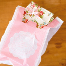 Pink Lace Plastic Gift Carrier Bag Christmas Shopping T Shirt Bags(China)
