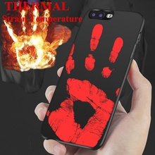 2017 Magic Physical Thermal Sensor Hot Discoloration Strain Temperature Case For Samsung S7 S7 Edge For iPhone 7 7 Plus 6S Plus