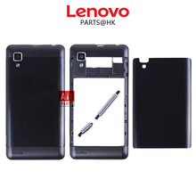 Original New metal Rear Housing Door For Lenovo P780 Back Battery Cover Case with Volume + Power Button + Camera Lens Assembly