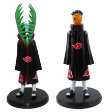 2pcs/lot 6.3 inch Naruto Shippuuden Akatsuki Tobi Zetsu PVC Collectable Figure Model Toys for Children