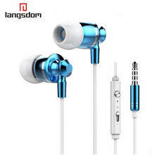 Earphones metal 3.5mm Stereo Bass earphone With Mic Volume for iphone 5 6 Samsung HTC MP3  Sony iPod fone de ouvido M300