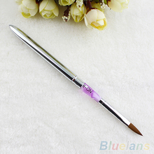 Size 8 Acrylic Brush Sable Pink Mable Detachable Acrylic Nail Art Builder Pen 1QFB 2UN1(China)