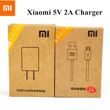 Xiaomi USB Charger 5V 2A Power Adapter + Micro USB Data Cable Xiaomi 2 3 Mi 4 4s Redmi 3 3s 4 4A 4X Note 3 4 4X Original