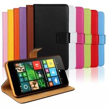 Genuine Leather Case For Microsoft Lumia 640 XL Book Wallet Style Magnetic Design With Card Slot Flip Stand Phone Cover Shell(China)