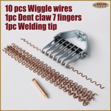 Wiggle S Wave Squiggly wire dent pull claw spot welding electrode tip dent puller welding tools garage equipment car body dents