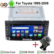 MJDXL Octa Core Car DVD Android 6.0 Double Din GPS Navigation WIFI+Bluetooth+Radio for Toyota Hilux Camry Corolla Prado RAV4