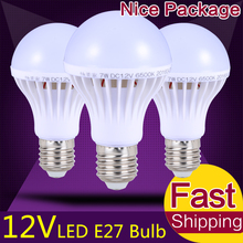 Energy Saving E27 LED Bulb Lights DC 12Volt-85Volt LED Lamp 3W 5W 9W 12W 15W Lamparas LED Light Bulbs 12 Volt for Outdoor