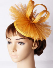 Perfct color sinamay base fascinator headwear  party headpiece church race show hair accessories millinery cocktail hat MYQ114