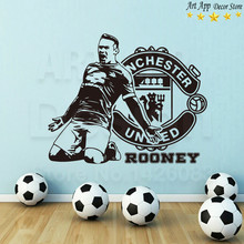 Good quality house decor new Art Design football rooney Vinyl Wall decals removable room decoration soccer sports cheap sticker