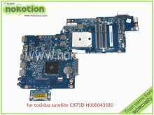 NOKOTION H000043580 Laptop motherboard For toshiba Satellite C875D L870 L875 C875 Series DDR3 PLAC CSAC UMA mainboard rev 2.1(China)