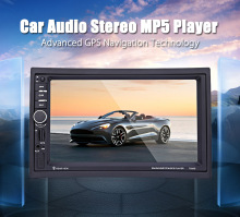 Univeral 2 DIN Car Radio MP5 DVD Video Player 1080P HD Player Touch Screen GPS Navigation USB MP4/MP5 Bluetooth Rear View Camera