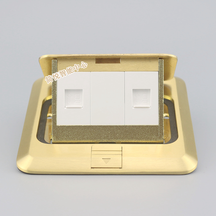 Bronze Pop-up Dual RJ45 Cat6 Network LAN Floor Panel Ground Outlet Socket Receptacle<br>