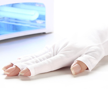 Limit buy 1 Pair Nails UV Gloves with Fingers UV Gloves for UV Lamp Radiation Protection(China)