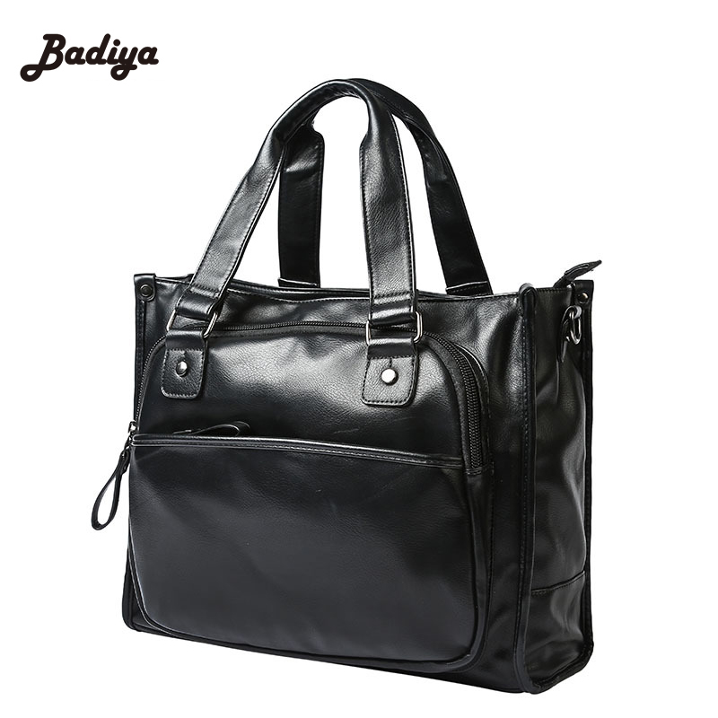 Brand Designer PU Leather Men Bag New Arrival Business Totes Bag Large Capacity Laptop Hanbags For Man<br>