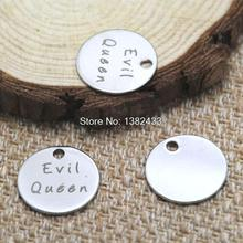 10pcs evil queen charm silver tone message charm pendant 20mm(China)