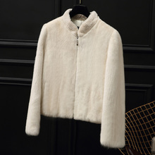 Genuine mink fur coat women winter real fur coats high end luxury marten fur jacket good quality mink short design NPI 71220I(China)