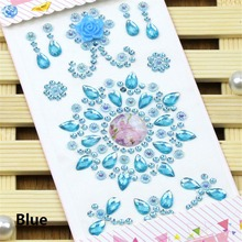 Multicolor Flower Crystal Flatback Motif Acrylic Rhinestones Stickers Phone PC Car Art Decals Bags Decor DIY Sewing Accessories