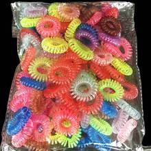 30Pcs Colorful Telephone Wire Gum Rubber Ponytail Holders Traceless Hair Rings Elastics Hair Bands/Ties Headband Hair Ornaments(China)